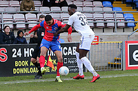 Emmanuel Monthe of Tranmere Rovers and Mason Bloomfield of Dagenham  during Dagenham & Redbridge vs Tranmere Rovers, Vanarama National League Football at the Chigwell Construction Stadium on 10th March 2018