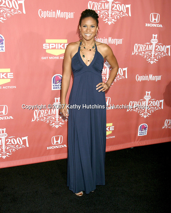 "Traci Thoms.Spike TV's ""Scream 2007"" Awards.The Greek Theater.Los Angeles,  CA.October 19, 2007.©2007 Kathy Hutchins / Hutchins Photo...               ."