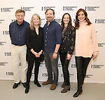 Larry Bryggman, Tasha Lawrence, Jeremy Shamos, Maria Dizzia and Kate Walsh attend the 'If I Forget' cast photocall at the Roundabout Rehearsal Studios on January 12, 2017 in New York City.
