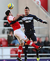 Craig Morgan of Rotherham and Marcus Haber of Stevenage header. Rotherham United v Stevenage - FA Cup 1st Round - New York Stadium, Rotherham - 3rd November 2012. © Kevin Coleman 2012.