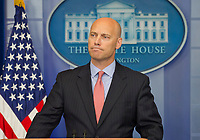 White House Director of Legislative Affairs Marc Short discusses the Administration's charges that United States Senate Democrats have delayed crucial Trump appointee's confirmations in the Brady Press Briefing Room at the White House in Washington, DC on Monday, July 10, 2017. Photo Credit: Ron Sachs/CNP/AdMedia