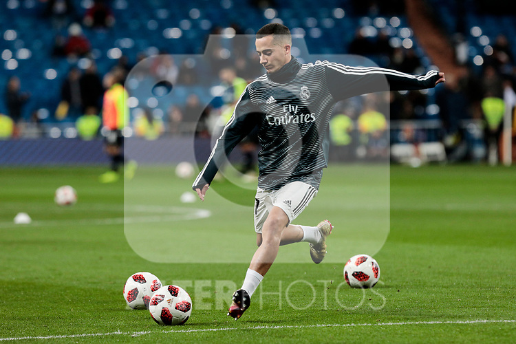 Real Madrid's Lucas Vazquez during Copa Del Rey match between Real Madrid and CD Leganes at Santiago Bernabeu Stadium in Madrid, Spain. January 09, 2019. (ALTERPHOTOS/A. Perez Meca)<br />  (ALTERPHOTOS/A. Perez Meca)