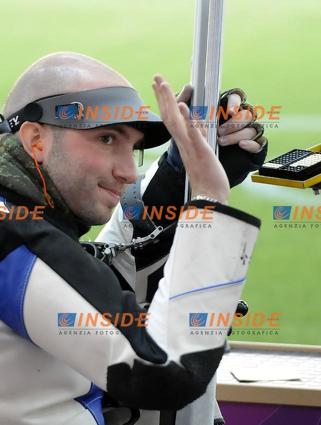 Niccolo Campriani .Finale Carabina  50m 3 posizioni. Londra 2012 Olympic Games, London, Britain, Aug. 6, 2012..foto Insidefoto /  imago/ Xinhua..ITALY ONLY