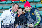 Noel Marshall, Ryan Marshall and Amanda Hogan at the Munster Hurling League match Kerry v Clare in Austin Stack Park on Sunday