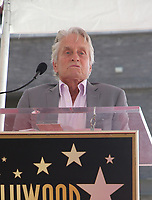 LOS ANGELES, CA - SEPTEMBER 13: Michael Douglas, at the Hollywood Walk Of Fame Ceremony honoring Eric McCormack in Los Angeles, California on September 13, 2018. <br /> CAP/MPIFS<br /> &copy;MPIFS/Capital Pictures