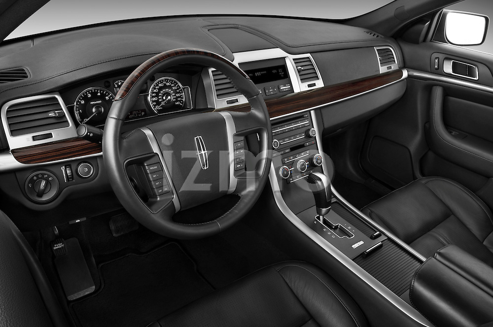High angle dashboard view of a 2010 Lincoln MKS FWD