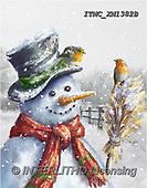 Marcello, CHRISTMAS SANTA, SNOWMAN, WEIHNACHTSMÄNNER, SCHNEEMÄNNER, PAPÁ NOEL, MUÑECOS DE NIEVE, paintings+++++,ITMCXM1382B,#X#