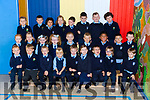 The new Junior Infants who started school in Ms Cassidy's class at St Oliver's NS, Killarney last Thursday.