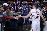 "LOS ANGELES, CA - MARCH 12:  ""One Day One Game"" Blake Griffin #32 of the Los Angeles Clippers high fives fans after the game against the Golden State Warriors during their NBA Game at the Staples Center  on March 12, 2014 in Los Angeles, California.  (Photo by Donald Miralle for ESPN the Magazine)"