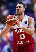 7th September 2017, Fenerbahce Arena, Istanbul, Turkey; FIBA Eurobasket Group D; Latvia versus Turkey; Center Semih Erden of Turkey performs free throw