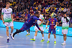 League ASOBAL 2017-2018 - Game: 14.<br /> FC Barcelona Lassa vs Helvetia Anaitasuna: 38-26.<br /> Cedric Sorhaindo vs Gabriel Ceretta.