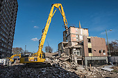 Demolition of Durham Court blocks in Phase 2b of Brent Council's South Kilburn Estate regeneration scheme.