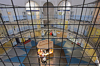 This section of Wandsworth prison is known as the central star and it leads to all original wings of the prison. HMP Wandsworth in South West London was built in 1851 and is one of the largest prisons in Western Europe. It has a capacity of 1456 prisoners.