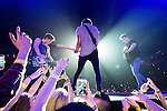 © Joel Goodman - 07973 332324 . 25/04/2015 . Manchester , UK . The Vamps play live at the Manchester Arena . Photo credit : Joel Goodman