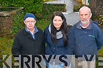 A 12-month research project to record and map Kilgarvan's three burial grounds is now underway. .L-R Dermot  Twomey, archaeologist Orna Kelleher and Tadhg Donoghue.