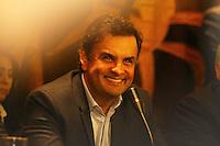 CURITIBA, PR, 19.05.2014 -  AÉCIO NEVES/ ENCONTRO DO PARTIDO PSDB / CURITIBA  - O Senador, presidente nacional do PSDB e pré-candidato do partido à Presidência da República Aécio Neves durante entrevista coletiva no plenario da assembleia Legislativa do Paraná, na tarde desta segunda-feira (19). (Foto: Paulo Lisboa / Brazil Photo Press)