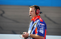 Nov. 13, 2009; Avondale, AZ, USA; NASCAR Sprint Cup Series crew chief Drew Blickensderfer during practice for the Checker O'Reilly Auto Parts 500 at Phoenix International Raceway. Mandatory Credit: Mark J. Rebilas-