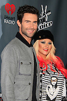 WEST HOLLYWOOD - NOV 8: Adam Levine, Christina Aguilera at the NBC's 'The Voice' Season 3 at House of Blues Sunset Strip on November 8, 2012 in West Hollywood, California.  Credit: MediaPunch Inc. /NortePhoto.com