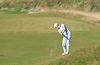 Michael Hoey (NIR) on the 7th fairway during Round 1 of the 2015 Alfred Dunhill Links Championship at Kingsbarns in Scotland on 1/10/15.<br /> Picture: Thos Caffrey | Golffile