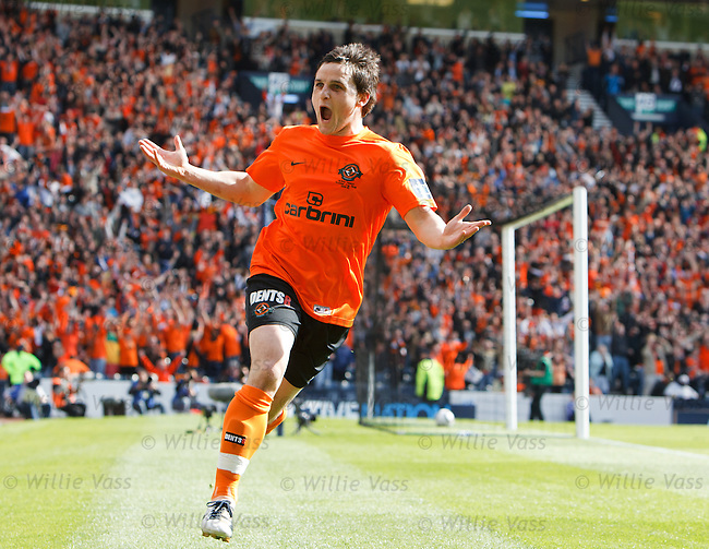 Craig Conway scores his first and Dundee Utd's second goal of the match