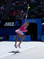 Maria Kirilenko (RUS) & Victoria Azarenka (BLR) (12) against Gisela Dulko (ARG) & Flavia Pennetta (ITA) (1) in the final of the women's doubles. Gisela Dulko & Flavia Pennetta beat Maria Kirilenko & Victoria Azarenka 2-6 7-5 6-1..International Tennis - Australian Open  -  Melbourne Park - Melbourne - Day 12 - Fri 28th January 2011..© Frey - AMN Images, Level 1, Barry House, 20-22 Worple Road, London, SW19 4DH.Tel - +44 208 947 0100.Email - Mfrey@advantagemedianet.com.Web - www.amnimages.photshelter.com