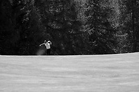 Adri Arnaus (ESP) in action on the 15th hole during final round at the Omega European Masters, Golf Club Crans-sur-Sierre, Crans-Montana, Valais, Switzerland. 01/09/19.<br /> Picture Stefano DiMaria / Golffile.ie<br /> <br /> All photo usage must carry mandatory copyright credit (© Golffile | Stefano DiMaria)
