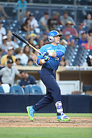 Philip Clarke (25) of the West Team bats against the East Team during the Perfect Game All American Classic at Petco Park on August 14, 2016 in San Diego, California. West Team defeated the East Team, 13-0. (Larry Goren/Four Seam Images)
