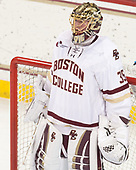 Ryan Edquist (BC - 35) - The visiting Merrimack College Warriors defeated the Boston College Eagles 6 - 3 (EN) on Friday, February 10, 2017, at Kelley Rink in Conte Forum in Chestnut Hill, Massachusetts.