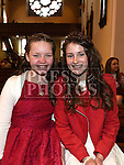 Caoimhe Leech and Grace campbell who were confirmed in the Church of the Immaculate Conception Termonfeckin. Photo:Colin Bell/pressphotos.ie