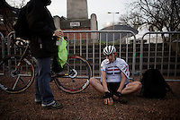Helen Wyman (GBR/Kona) post-race<br /> <br /> Superprestige Diegem 2015