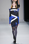 Lindsay Lullman walks the runway in a Nicole Miller Fall 2011 outfit, during Mercedes-Benz Fashion Week.