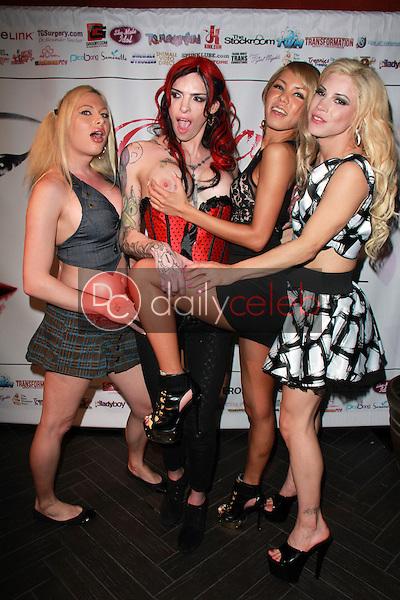 Eva Cassini, Chelsea Marie, Miran, Laela Knight<br /> at the 2015 Transgender Erotica Awards Official After Party, Bardot, Hollywood, CA 02-16-15<br /> David Edwards/DailyCeleb.Com 818-249-4998