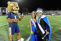 6 November 2010:  FIU's mascot, Roary, presents this year's homecoming king and queen during halftime as the FIU Golden Panthers defeated the University of Louisiana-Monroe Warhawks, 42-35 in double overtime, at FIU Stadium in Miami, Florida.