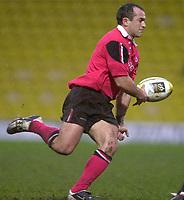 11/01/2004 - Photo  Peter Spurrier.2003/04 Parker Pen Challenge Cup Saracens v Glasgow.Sarries, Thomas Castaignede..   [Mandatory Credit, Peter Spurier/ Intersport Images].