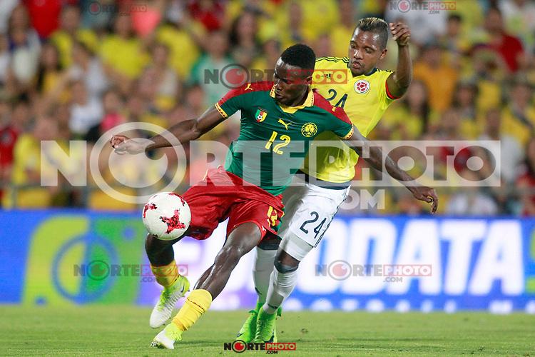 Colombia's Jose Heriberto Izquierdo (r) and Cameroon's Jerome Guihoata during international friendly match. June 13,2017.(ALTERPHOTOS/Acero) (NortePhoto.com) (NortePhoto.com)