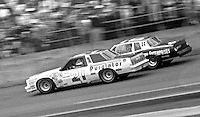 Neil Bonnett (21) ans David Pearson battle for position during the Daytona 500, Daytona International Speedway, Daytona Beach, FL, February 15, 1981.  (Photo by Brian Cleary/www.bcpix.com)