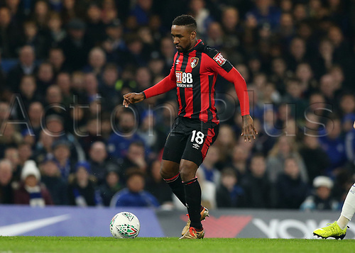 20th December 2017, Stamford Bridge, London, England; Carabao Cup quarter final, Chelsea versus Bournemouth; Jermain Defoe of Bournemouth in action
