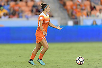 Houston, TX - Sunday August 13, 2017:  Amber Brooks during a regular season National Women's Soccer League (NWSL) match between the Houston Dash and FC Kansas City at BBVA Compass Stadium.
