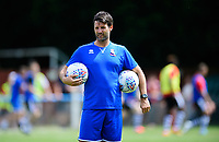 Lincoln City manager Danny Cowley during the pre-match warm-up <br /> <br /> Photographer Chris Vaughan/CameraSport<br /> <br /> Football - Pre-Season Friendly - Lincoln United v Lincoln City - Saturday 8th July 2017 - Sun Hat Villas Stadium - Lincoln<br /> <br /> World Copyright &copy; 2017 CameraSport. All rights reserved. 43 Linden Ave. Countesthorpe. Leicester. England. LE8 5PG - Tel: +44 (0) 116 277 4147 - admin@camerasport.com - www.camerasport.com