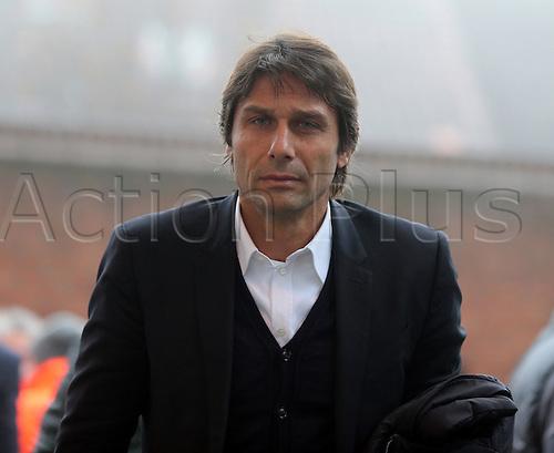 17.12.2016. Selhurst Park, London, England. Premier League Football. Crystal Palace versus Chelsea. Antonio Conte arriving at Selhurst Park for the game.