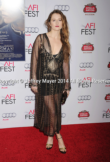 HOLLYWOOD, CA - NOVEMBER 11: Actress Grace Gummer attends the 'The Homesman' premiere during AFI FEST 2014 presented by Audi at the Dolby Theater on November 11, 2014 in Hollywood, California.