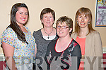 Karen Joy, Catherine Joy and Teresa Ahern, Killorglin with Eta O'Connor, Killarney, pictured at the Comhaltas concert in the Gleneagle hotel, Killarney on Friday.