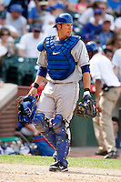 August 9, 2009:  Catcher J.P. Arencibia of the Las Vegas 51s during a game at Wrigley Field in Chicago, IL.  Las Vegas is the Pacific Coast League Triple-A affiliate of the Toronto Blue Jays.  Photo By Mike Janes/Four Seam Images