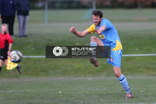 NELSON, NEW ZEALAND - JULY 31: Mainland Football Nelson Suburbs v Universities on July 31Saxton Field 2016 in Nelson, New Zealand. (Photo by: Evan Barnes Shuttersport Limited)