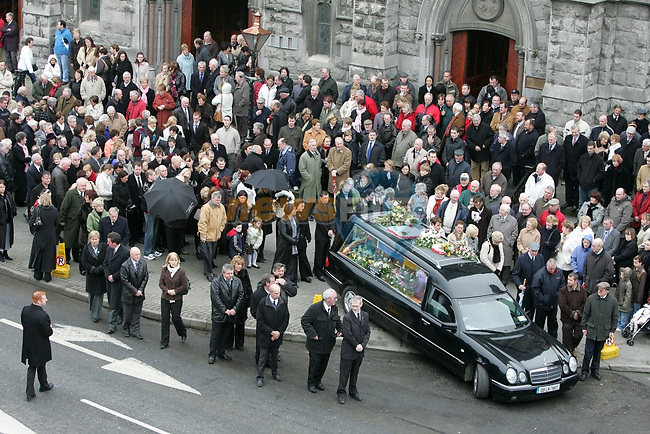 Funeral of Paddy Kierans.Photo: Fran Caffrey/ Newsfile.<br />
