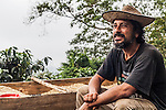 "Juan Carlos Vergara, owner of the one-man organic coffee plantation ""Mile High Coffee"" in the Sierra Nevada de Santa Marta, Colombia."