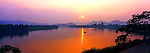 Vietnam Panorama - Sunset over Perfume River in Hue, Vietnam.<br />