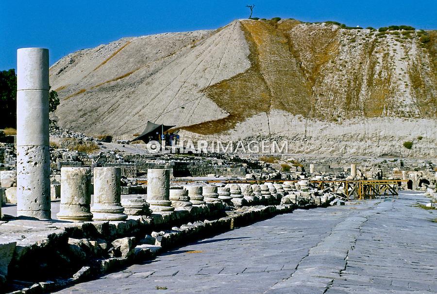 Ruínas romanas em Hierápolis.Turquia. 1995. Foto de João Caldas