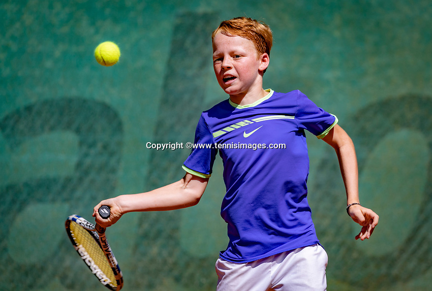 Hilversum, Netherlands, August 6, 2018, National Junior Championships, NJK, Tijl Forger (NED)<br /> Photo: Tennisimages/Henk Koster