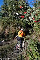 Hunter on bicycle
